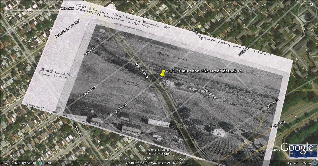 google earth image of laurelton from joe grange